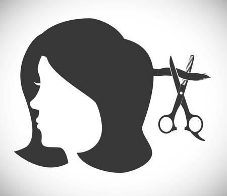 hair dressing: Hair Salon digital design, vector illustration eps 10. Illustration