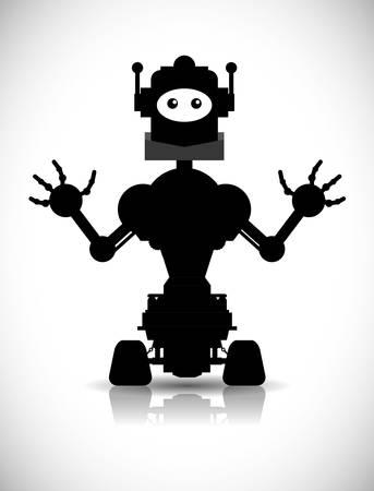 cybernetics: Robot digital design, vector illustration 10 eps graphic