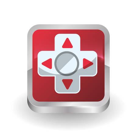 arrow icon: Video games digital design, vector illustration 10 eps graphic