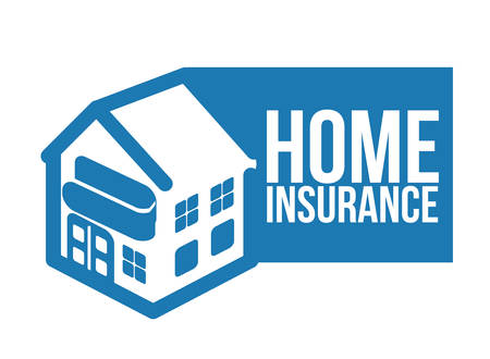 home value: Insurance design over white background, vector illustration Illustration