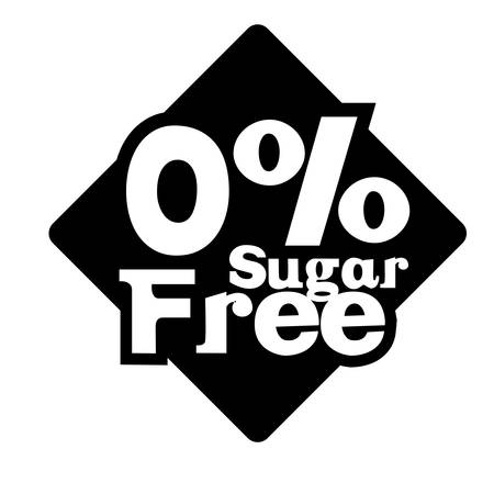 sweetener: Sugar free design over white background, vector illustration