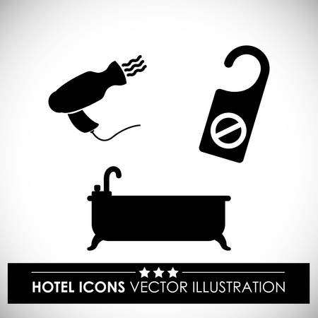 guest house: Hotel digital design, vector illustration eps 10. Illustration