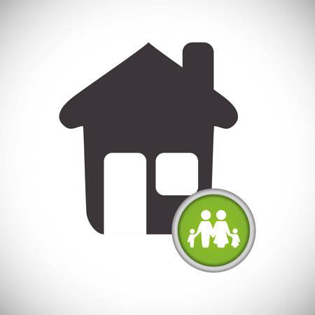 familiy: Insurance design over white background, vector illustration Illustration