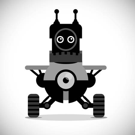 cybernetics: Robot digital design, vector illustration 10 eps graphic