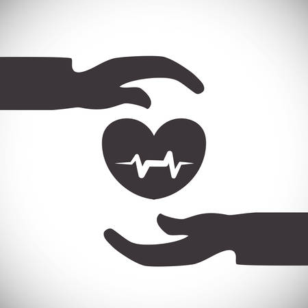 Insurance design over white background, vector illustration Illustration