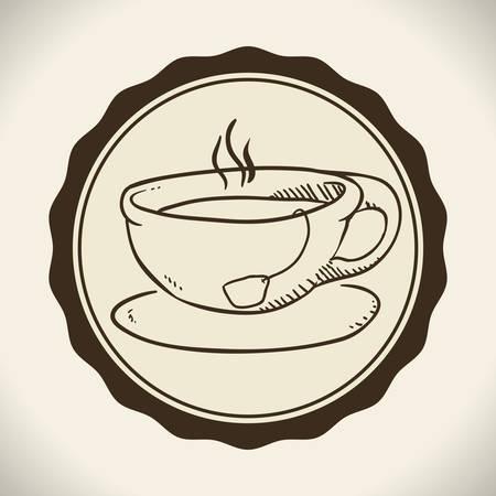 Tea time digital design, vector illustration 10 eps graphic 向量圖像
