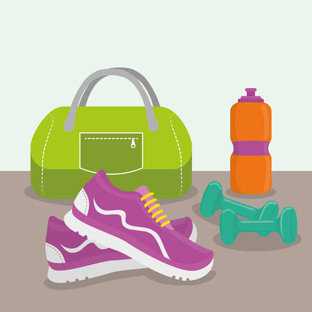 gym: Gym digital design, vector ilustration eps 10.