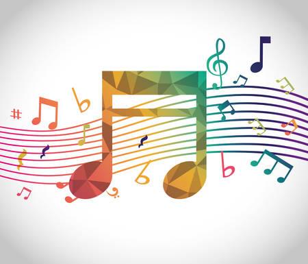 음악 디지털 디자인, 벡터 그림 eps 10.