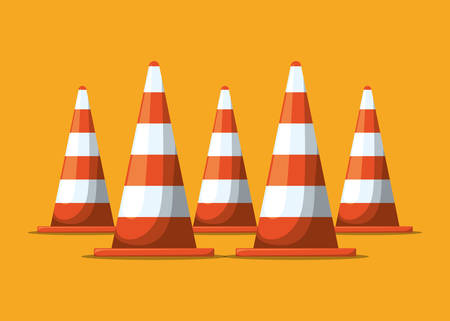 under construction road sign: Under construction digital design, vector illustration 10 eps graphic