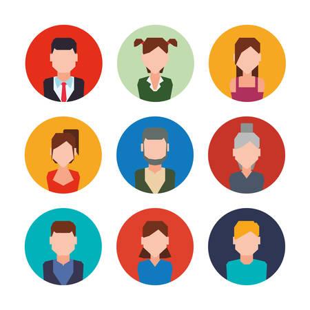 connect people: Social network design, vector illustration eps 10.