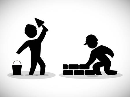 brick road: Under construction digital design, vector illustration 10 eps graphic