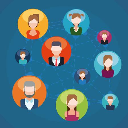 socializing: Dise�o de la red social, ilustraci�n vectorial eps 10. Vectores