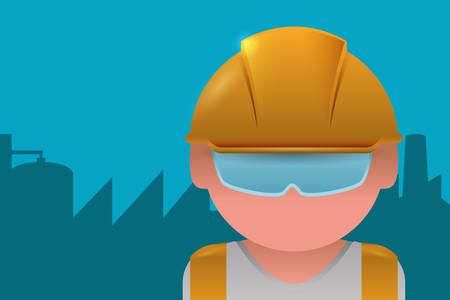 safety helmet: Under construction digital design, vector illustration 10 eps graphic