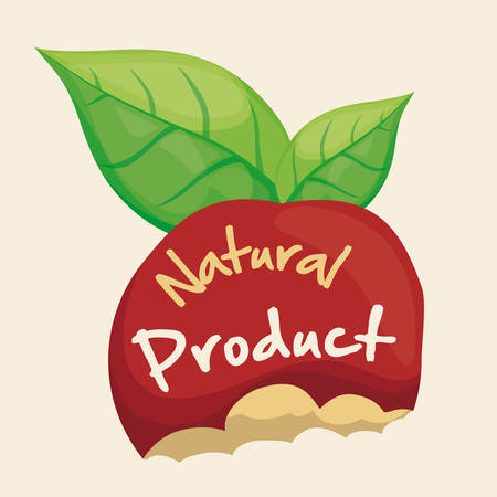apple bite: Natural product design, vector illustration eps 10.