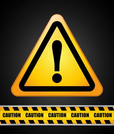 restricted access: Caution design over black background, vector illustration. Illustration