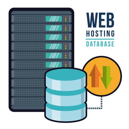 web hosting: Web hosting digital design, vector illustration  Illustration