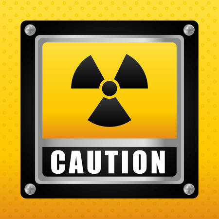 restricted access: Caution design over yellow background, vector illustration.