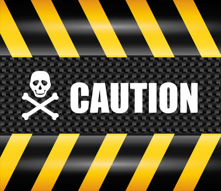 restricted access: Caution design over yellow and black background, vector illustration.