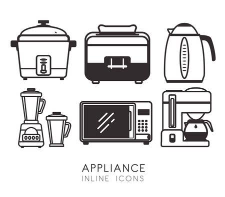 cofffee: Home appliances design, vector illustration