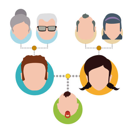 woman in love: Family digital design, vector illustration eps 10.