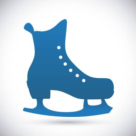 skating: Skates digital design, vector illustration