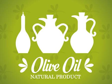 olive oil: Olive oil design over green background, vector illustration.