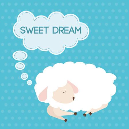 dulces sue�os: Dise�o Dulces sue�os, ilustraci�n vectorial eps 10.