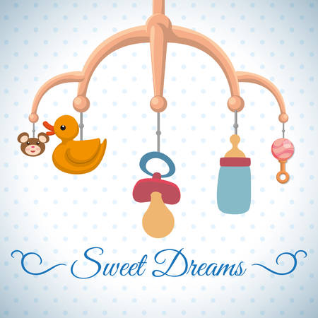Baby shower digital design, vector illustration 10 eps graphic