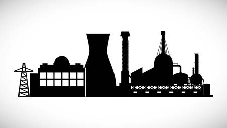 polluting: Industrial plant digital design, vector illustration 10 eps graphic