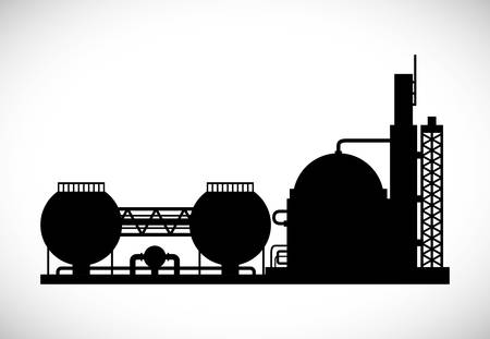 chemical industry: Industrial plant digital design, vector illustration 10 eps graphic