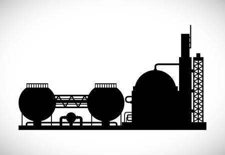 industria petroquimica: Planta industrial Diseño digital, ilustración vectorial eps 10 gráfico Vectores
