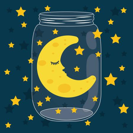 dreamer: Sweet dreams design, vector illustration eps 10.