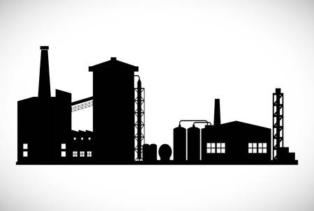 petrochemical plant: Industrial plant digital design, vector illustration 10 eps graphic