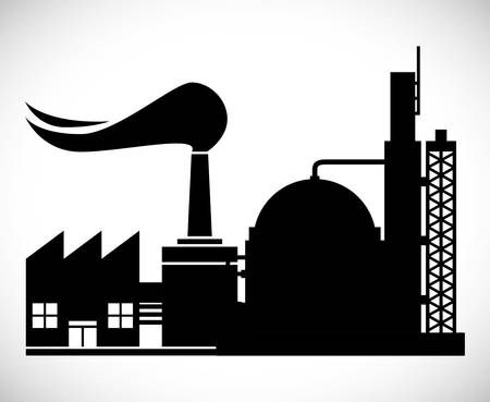 petrochemical plant: Industrial plant digital design, vector illustration 10 eps graphic
