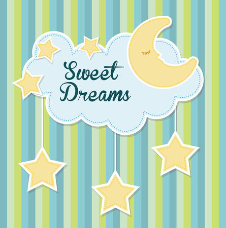 night time: Sweet dreams design, vector illustration eps 10.