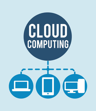 Cloud Computing digital design, vector illustration 10 eps graphic Illustration