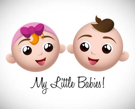 baby shower background: Baby shower digital design, vector illustration 10 eps graphic