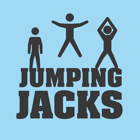jacks: Jumping digital design, vector illustration 10 eps graphic