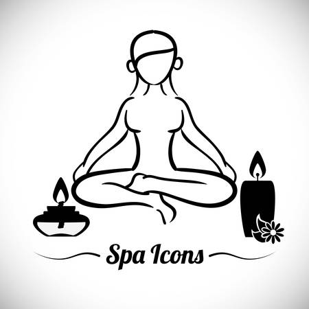 retreat: Spa Center design, vector illustration 10 eps graphic Illustration
