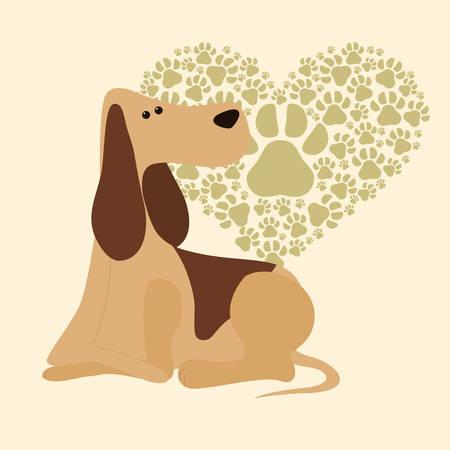 trusting: Pet´s love digital design, vector illustration 10 eps graphic Illustration