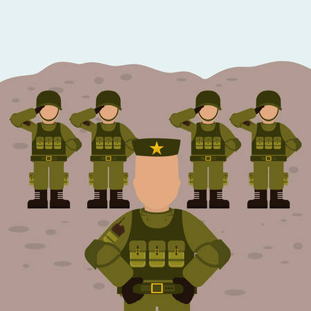 military uniform: Military Armed Forces digital design, vector illustration 10 eps graphic Illustration