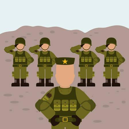 Military Armed Forces digital design, vector illustration 10 eps graphic