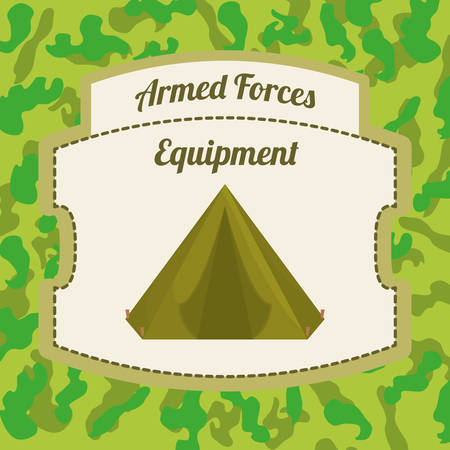 armed: Military Armed Forces digital design, vector illustration 10 eps graphic Illustration