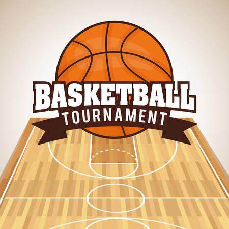 Basketball digital design, vector illustration 10 eps graphic Vettoriali