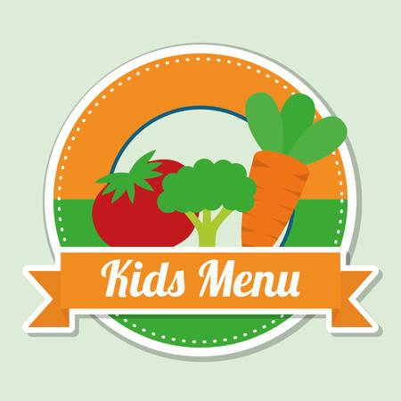 eating food: Kids Menu digital design, vector illustration 10 eps graphic
