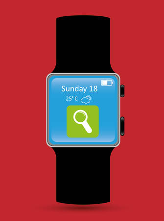 wristband: Wearable Technology digital design, vector illustration 10 eps graphic