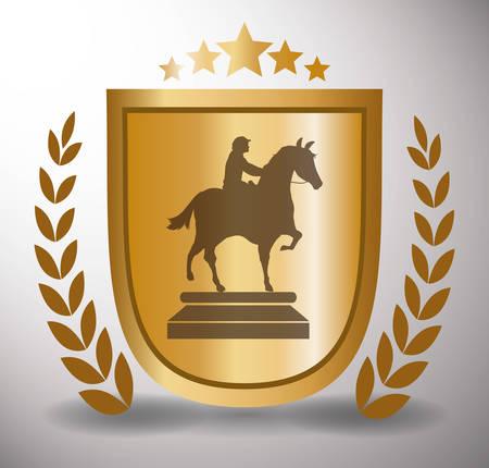 strenght: Horse Riding digital design, vector illustration 10 eps graphic