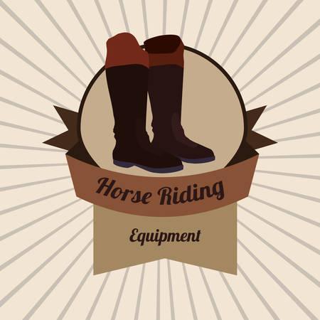 riding boot: Horse Riding digital design, vector illustration 10 eps graphic