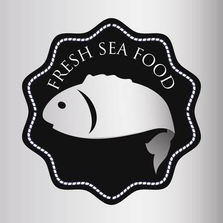 Fish digital design, vector illustration 10 eps graphic