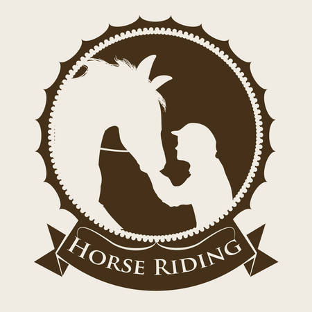 Horse Riding digital design, vector illustration 10 eps graphic